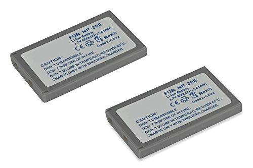 2x Batterie NP-200 per Minolta Dimage X, Xi, Xg, Xt, Xt BIZ, Dimage Z