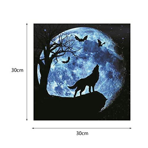 Wandtattoo Wolf und Fledermaus, 3D, selbstklebend, leuchtet im Dekor des Hauses, dunkel, Kinder, Wohnzimmer, Schlafzimmer, 20/30 30