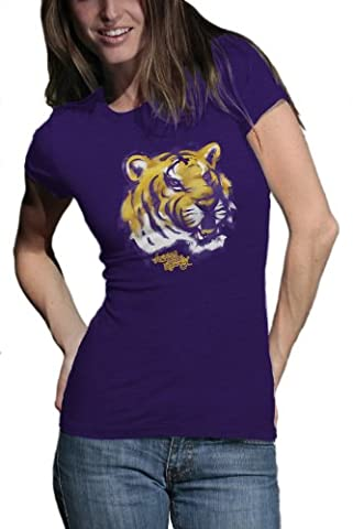 NCAA Louisiana State Tigers Watercolor Junior Heather T-Shirt, damen, Lsu Tigers