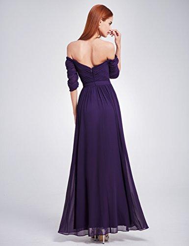 Ever Pretty Damen Abendkleid Ruched Bust Off Shoulder mit tiefem ...