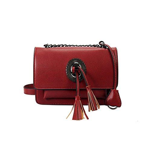 MYLL Frauen-Tassel Kleine Schultertasche Messenger Bag Red
