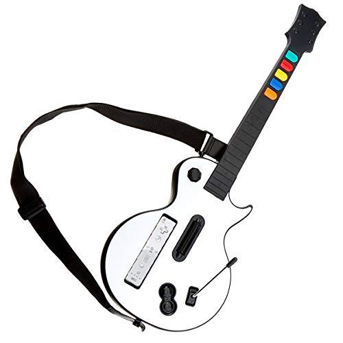 DOYO White Wii Guitar, abnehmbarer Wii Gitarren Controller, Nintendo Wii Guitar Hero und Rockband Spiel für Wireless Gitarre - Bundle Rock Band Xbox