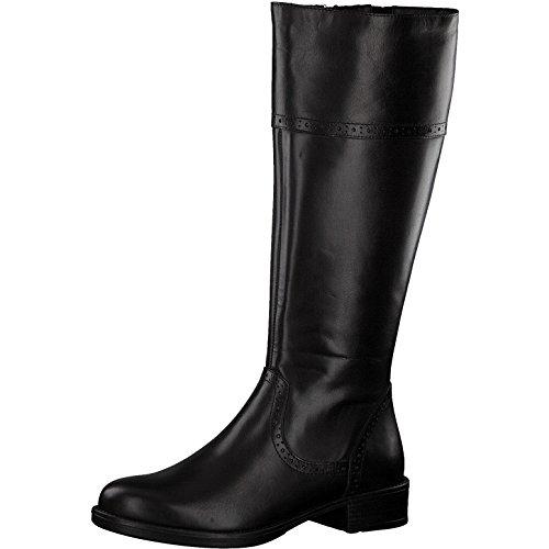 Tamaris Damen Stiefel 25547-21,Frauen Boots,Lederstiefel,Reißverschluss,Blockabsatz 3.5cm,Black,EU 40