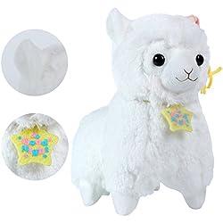 """KOSBON 7""""buena noche de peluche muñeca de alpaca, diseño de animales de peluche juguetes, mejores regalos de cumpleaños para los niños Niños (Copa)"""