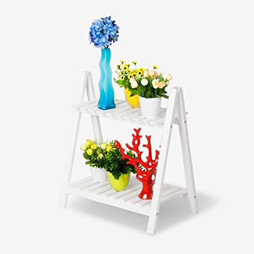 LSJT Shelf Soporte de Flores Balcón de Tres Pisos Baldaquín Estante de...