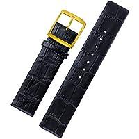 22mm cinturini per orologi di lusso nere cinghie di ricambio per il polso di fascia alta orologi sottile opaca vera pelle italiana fibbia in oro