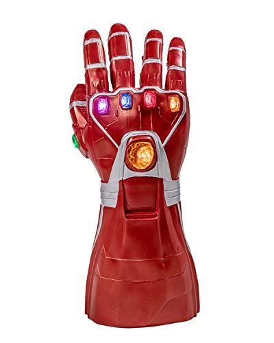 Infinity Gauntlet Thanos Handschuhe mit LED Energy Gems Endgame Film Cosplay Kostüm Replik für Erwachsene Herren Kleidung Party Merchandise ()