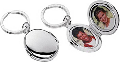 Silver Plated Oval Picture Frame Key Ring By David Van Hagen