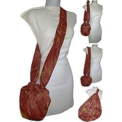 Tasche Cowboy Brown, Mehrzweck. Es ist transformiert. in Riese. Mode anziehen. der Kauf oder der Strand und keine Plastiktüten zu konsumieren. Exklusiv