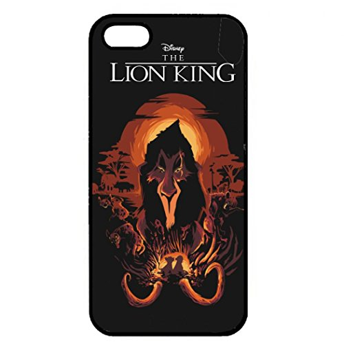 Custom The Lion King Phone Case Black Hard Plastic Back Case Cover For Iphone 5/5S Color033