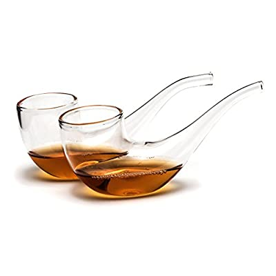 Ckb Ltd Pack Of 2 Brandy Port Pipe Sipping Glasses Set 75ml Brandy Glser Cognacglser With Narrow Tube To Enhance The Flavour