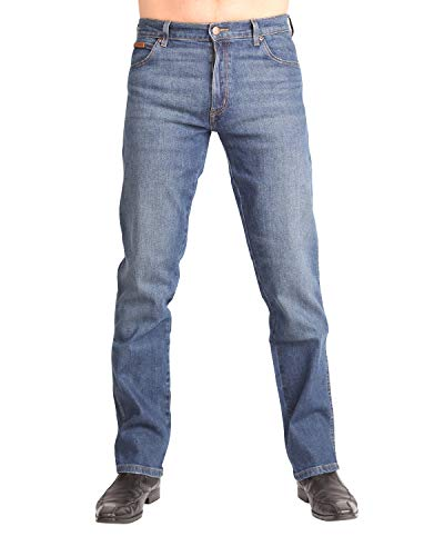 Wrangler Herren Texas Contrast' Jeans, Blau (Indigo Wit 25f), 38W / 36L (Relaxed Fit Jeans Fashion Mens)