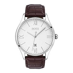 Hugo BOSS Reloj Analógico para Hombre de Cuarzo con Correa en Cuero 1513555