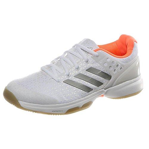 Adidas Donna Adizero Ubersonic 2 Scarpe da Tennis Scarpa per Tutte Le Superfici Bianco - Argento 44