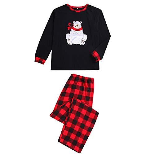 Schlafanzug Weihnachten Familie Baby Damen Herren Kariert Mädchen Junge Pyjama Set Outfit Christmas Kostüm Lang Warm Langarm
