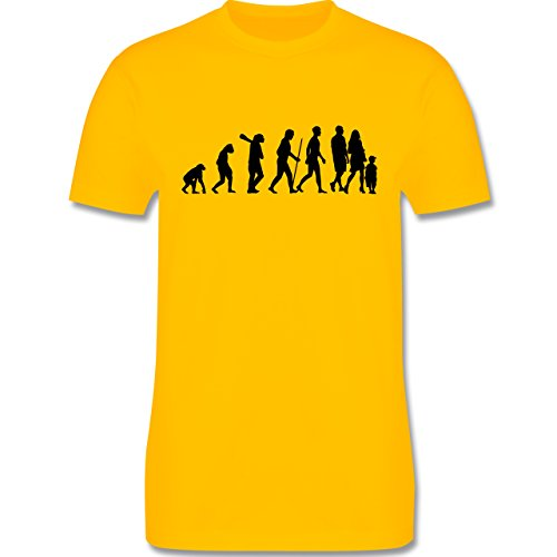 Evolution - Familie Evolution - Herren Premium T-Shirt Gelb