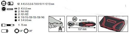 Kraftwerk 4006–Boîte Lunettes de pointes et et mini insercion à cliquet 1/4