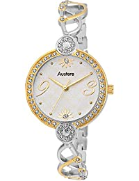 Austere Analogue White Dial Women's Watch -Wespr-010607