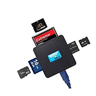 High Speed - All in One USB 3.0 Card Reader / Writer - Compatible with SD, SDHC, SDXC, Micro SD, TF, CF, XD, M2 and Sony Memory Stick Pro Duo Card - For Sony, Panasonic, Canon, Fujifilm, Olympus, Pentax, Kodak, JVC, Minolta, Samsung, Nikon, Casio, BenQ and GE Digital Camera - Backward USB Compatible - AAA Products®