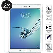 TopgadgetsUK {2pack} - Protector de pantalla de cristal templado para Samsung Galaxy Tab S2 de 8,0 pulgadas (SM-T710), protector de pantalla ultra delgado, ligero, de alta calidad, a prueba de explosiones, de dureza de vidrio templado para Samsung Galaxy Tab S2 de 8,0 pulgadas (SM-T710)