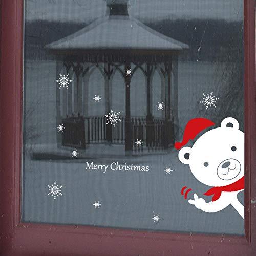 Yirenfeng Elektrostatische Pvc Film Glas Wandaufkleber Weihnachtsmall Dekoration Fensteraufkleber (Bewertung Halloween Film 3d)