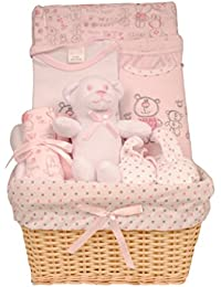Bee Bo - Cesta de bebé para regalo con juguete body, pantalones, babero, patucos y paño para lactancia(0–3meses)