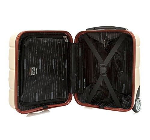 WITTCHEN Reisekoffer Trolley 17 Koffer Bordgepäck Handgepäck, 42x32x25 cm, Weiß, 25 Liter, Größe: klein, XS, Bordgepäck, Handgepäck, ABS, 56-3A-281-88 - 5