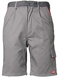 Planam Shorts Highline, größe S, zink / schiefer / rot, 2371044