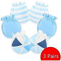 Affe 3 Paare Baby Mädchen Junge Handschuhe Neugeborene No Scratch Fäustlinge Säugling Kratzhandschuhe