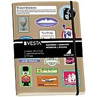 Dohe Vesta Sticker - Cuaderno, A5 color negro