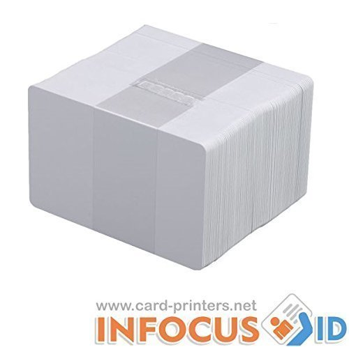 x 100 en Blanco Pvc Blanco Plástico Tarjetas cr-80 30mil para todos ID Impresoras