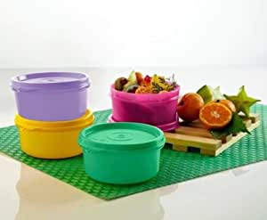 Tupperware Tropical Cups / Bowls – Set of 2 (230 ML) with FREE 3 Qty of JUST CHILL water bottle of (1 Ltr.)