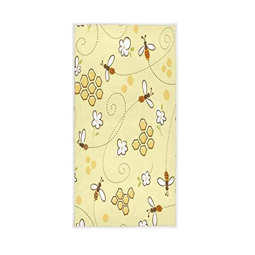 Sehr saugfähig für Badezimmer Home Hotel Fitnessraum Spa Gast Mehrzweckhonig Bienen in einer Wabe Dekorative weiche große Badetücher Hand Shepherd -
