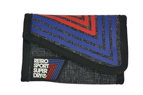 superdry-retro-sport-portefeuille-2-plis-taille-unique-gris-one-size