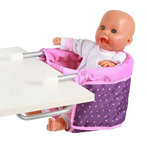Bayer Chic 2000 735 40 - Puppen-Tischsitz Dots, lila/rosa (Puppen-sitz Für Tisch)