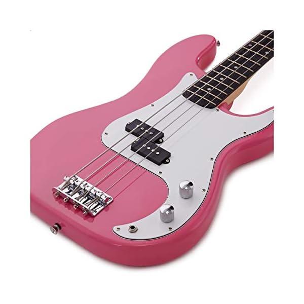 Basso elettrico LA Gear4music rosa