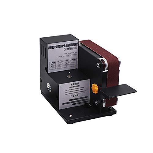 Kkmoon mini levigatrice a nastro elettrico levigatrice per lucidatura di metalli ad angolo fisso affilatrici a lama di banco micro
