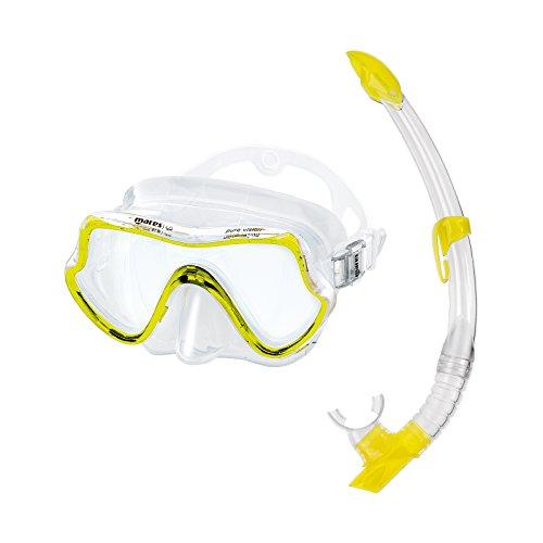 Mares Erwachsene Maske plus Schnorchel Set Pure Vision, Clear Yeallow, 411736SFRYLCL