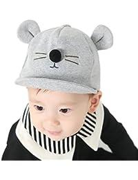❤️Amlaiworld Gorras de Béisbol Niña Niño Bebé Sombrero de Sol de algodón con  visera del Gato Gorro de Borde Suave… c74ab95395a