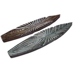 Hind Handicrafts - Soporte para varillas de incienso (madera hecha a mano, 28 cm, 4 unidades)