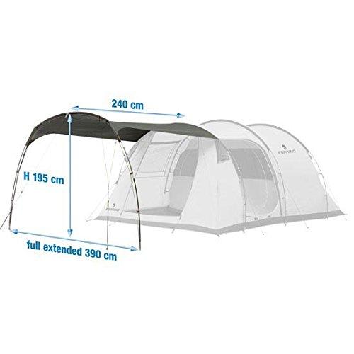 Ferrino canopy addizionale per proxes 5/6 e chanty 4/5, tenda, unisex, grigio, 5-6