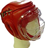 Kopfschutz für den Kampfsport mit abnehmbaren Plexiglasvisier