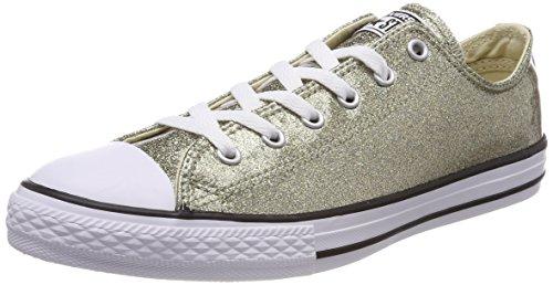 Converse Chuck Taylor CTAS Lift Ox, Zapatillas para Mujer, Dorado (Gold/Black/White 743), 41 EU