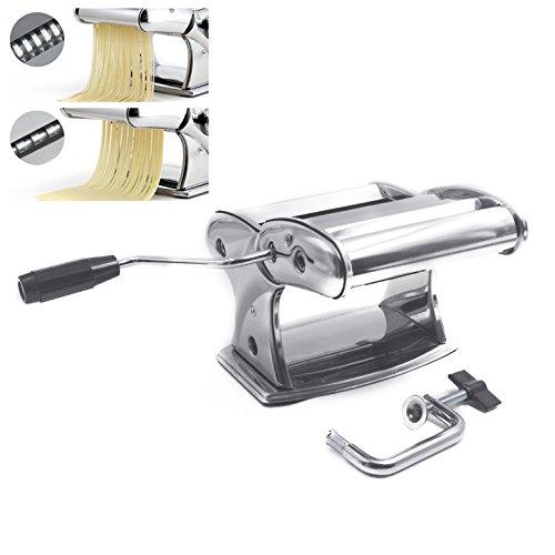 Anzirose Nudelmaschine Edelstahl Pastamaker Machine mit Rutschfesten