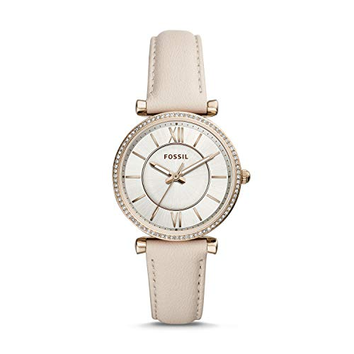 Fossil Carlie Three-Hand Winter Leather Women's Watch ES4465