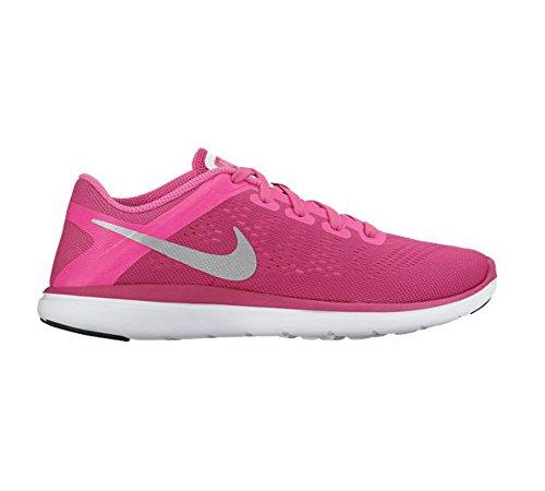 Nike Mädchen Flex 2016 Rn (Gs) Laufschuhe pink blast-black-hyper pink-metallic silver