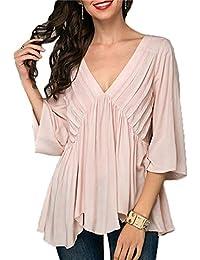 Blusas Mujer Sexy, Camisas Mujer Verano,Blusas Mujer Elegantes,Blusa Casual de la