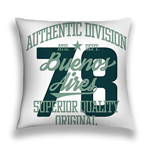 Fundas para almohada Throw Pillow Cover Pillowcase buenos aires sport design college...