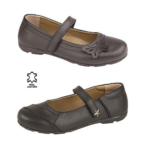 lollipop footwear  Velcro fastening, Mocassins pour fille noir noir Star (PIXIE)