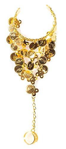 The Turkish Emporium Belly Dance Hand Dekoration (Paar), (Gold) (Tanz-armreif)